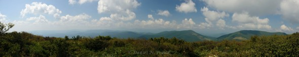 Elk Knob State Park NC - south view panorama